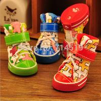 Pet Products of Pet Shoes 2014 New Type Pet Shoes for Dogs Winter Dog Shoes 4pcs/Set