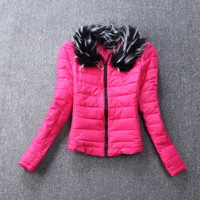 Free shipping long-sleeved cotton coat of cultivate one's morality female plus-size cotton-padded jacket dress