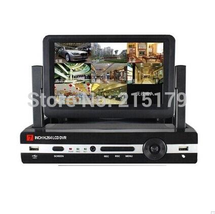 7 inch Digital LCD DVR 4 channel stand alone cctv dvr NTSC PAL DVR Recorder 4CH DVR recorder video surveillance cctv system(China (Mainland))