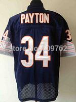 Chicago 34 Walter Payton jersey american throwback jersey Brian Urlacher Throwback jersey wholesale free ship mix order