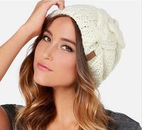 European 2014 new fresh preppy knit cap retaining ears warm woman hat free shipping