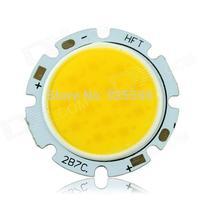 10 pcs 7W 300mA 2700-3000K 560-630lm White Light COB LED Round Board - Silver (DC 21-23V)