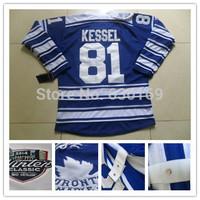 2014 winter classic Toronto Men 81 Phil Kessel Blue Ice Hockey Jerseys cheap,Embroidery logos, free shipping