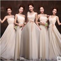 Hot new bridesmaid dress Slim Long sisters serving champagne bridesmaid group