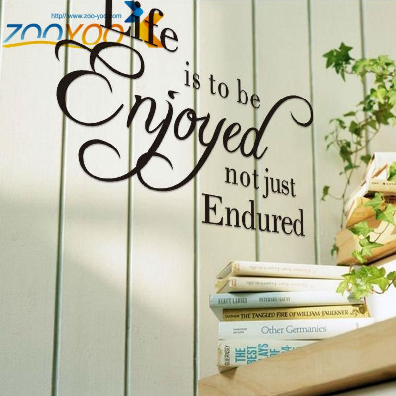 Online kopen wholesale genieten van het leven quotes uit china genieten van het leven quotes for Decoratie stuk om te leven