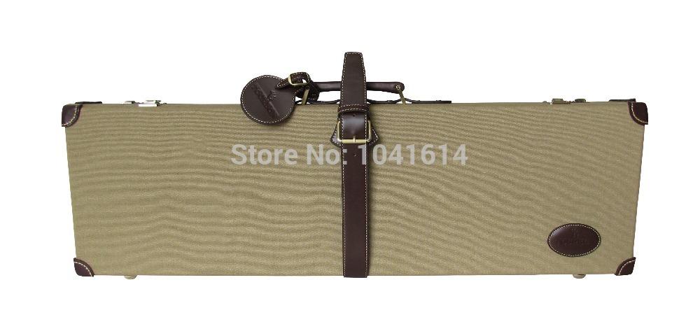 Tourbon High Quality Hunting Brown Canvas Hard Case Rifle gun Watertight Gun Case(China (Mainland))