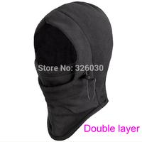 6 in 1 thermal fleece balaclava hood police swat skibike wind stopper face mask 200pcs/lot free shippping