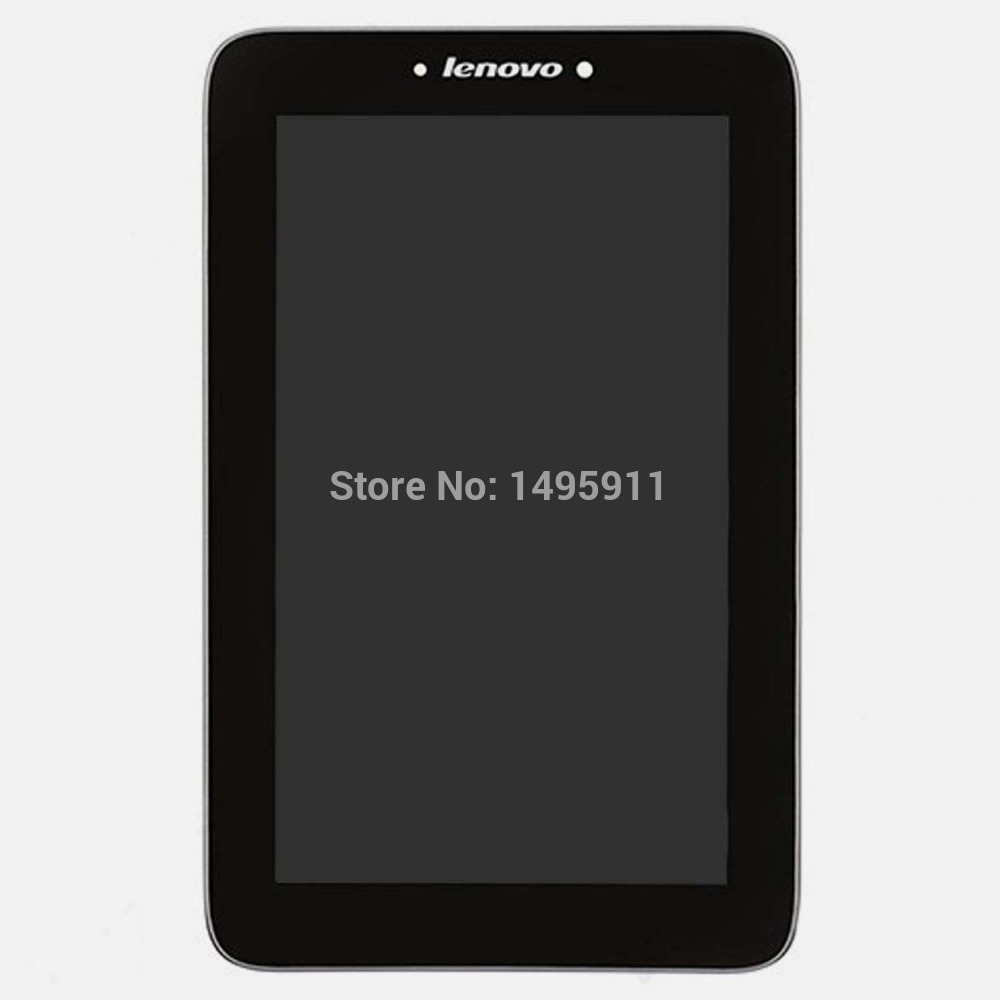 """For Lenovo IdeaTab A2107 7"""" Tablet Digitizer Touch Screen Glass Sensor + LCD Display Panel Screen Assembly + Frame Housing(China (Mainland))"""