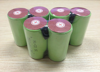 free   shipping  200pcs/lot  10C discharge rate 1.2V 3500mAh SubC SC NiCD rechargeable cell with solder tags