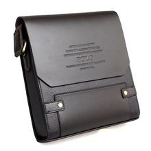 2014 new men's leather shoulder bag, men messenger bag,leather briefcase men,POLO laptop bag,brown  Z0210(China (Mainland))