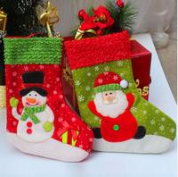 New Personalised Christmas Stockings Snowman Santa Sack Ornament Gift Candy Bag Free Shipping
