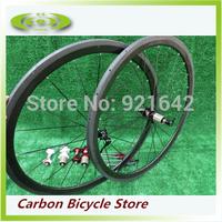 38mm Tubular 700C 23mm Width Carbon Fiber Wheels Tubular Road Bike Wheelsets