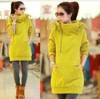 Plus Size New 2014 Autumn Hoodies Women Sport Suit Pullovers Hoody Swearshirt Fleece Warm Moleton Feminino Winter Coat