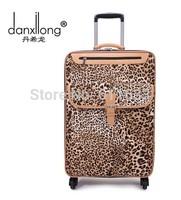 Fashion trolley luggage female universal wheels travel bag 18 20 22 24 28 leopard print luggage pull box luggage,girl luggage
