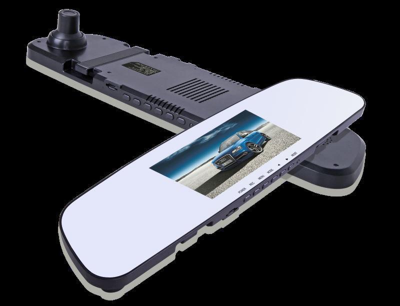 "Free Shipping FHD1080P 4.3"" LCD Due Lens Car DVR Camera Dash Camera Camcorder with Rearview Mirror+HDMI+G-sensor+Cycle Recording(China (Mainland))"