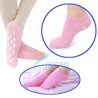 Free shipping 1pair  SPA Gel Moisturizing Sock Socks Make Feet  Fresh and Nourishing Feet Protection Care F0261