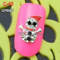 c-42 new christmas 30pcs 3D Shiny Crystal Rhinestone Alloy Design Nail Art Glitters Decoration free shipping