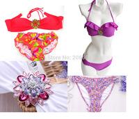 New Style Fashion Bikini Hot Sexy Diamond Push up High Quality Biquini Set Swimwears Women S M L