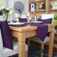 (30*160,30*180cm,30*200cm,30x220cm)New woven 100% cotton Deep Purple Table Runner/Flag Home Decoration Hotel Series Customize