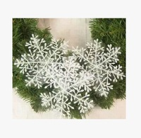 Free Shippping Wholesale Retail 3 Pcs 23CM White Snowflakes For  Christmas New Year Festival Party Tree/Window Decoration