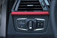 Matt Chrome Headlight switch Frame trim Decorative Cover For  F30 F31 F32 F34 3 4 Series ABS 2pcs/set
