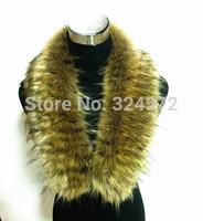 New 2014 Autumn Winter Dress Woman Luxury Faux Raccoon Fur Faux Fox Fur Collar Scarf Women Collar Large Scarves Shawl7color way