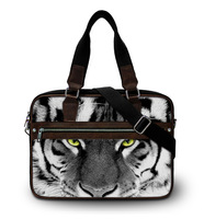 """Cool White Tiger high quality shoulder handbag 15"""" 15.6 inch laptop bag women men casual bags notebook  briefcase Free Shipping"""