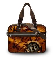 2014  fashion Canvas World Map laptop bag women men notebook bags shoulder handbag  for 15'' 15.4 15.6 inch computer accessories