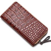 New Animal Prints Women's Wallets Designer Desigual Alligator Zipper Clutch Leather Women's Bag Casual Lady's Long Purse Black