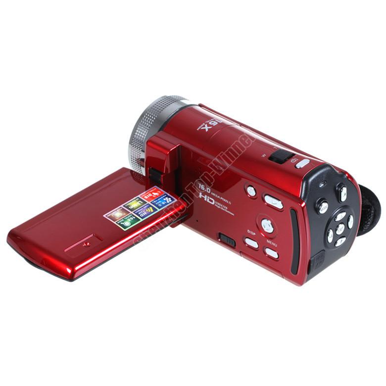 "Brand New HD 2.7"" TFT LCD 720P Digital Video Camcorder Camera 16x Digital ZOOM DV Black Free Drop Shipping(China (Mainland))"