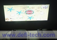 DEFI Double screen Interactive floor system support 2 projectors including Edge Blending setting 12 effects