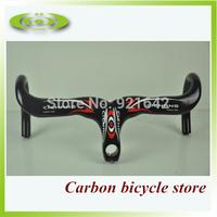 100% full carbon bicycle Handlebar carbon road bike handlebar with Stem integrative handlebar 400/420/440mm
