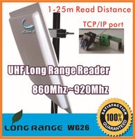 UHF RFID integrated long range reader 25M  TCP/IP ethernet port +RS232+Wiegand +Free sdk+Free 5pcs cards
