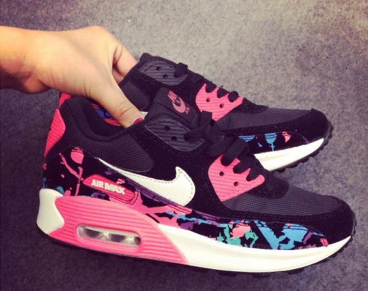 Newest Nike air max 90 women sports runninig shoes free shipping(China (Mainland))