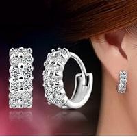 New Arrival, Luxury S925 Sterling Silver Full Shinning Pure CZ Diamonds Shambhala , Women Dangle drop earrings Free Shipping