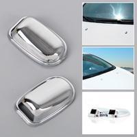 Chrome Windscreen Washer Spray Nozzle Cover Sticker for Ford Fiesta 2008-2015  ECA02056