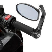Hot!  2pcs x  22mm Adjustable Blue Anti-Glare Mirror Heavy Duty Motorcycle Street Bike Bar End Mirrors
