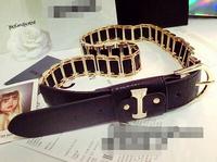 Her heavy metal fan belt light mirrorrunway fashion brand belt waist chai,men belts leather