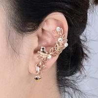 High Quality Big Brand Bird Earrings Gold Plated Cute Bird Ear Cuff Fashion Earrings AE562