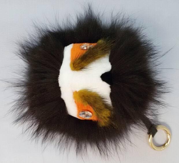 2014 Hot Sale F Bag Fox Fur Monster Bag Bugs Fashion Women's Handbag Leather Strap Hanger Charms Ladies Bags Hook Accessories(China (Mainland))