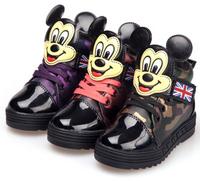 Retail 1pair Children cartoon brand sports shoes Camouflage kids' shoes children shoes Bang, unisex sizes 26 27 28 29 30