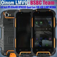 Original Oinom LMV9 R1 IP67 Waterproof 4.0 inch IPS 854x480 pixels 1GB 4GB 2.0MP 8.0MP GPS WCDMA Russian Cestina Spanish