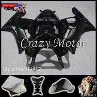 * Body Kit Fairing For Kawasaki Ninja zx6r 03 04 all brilliant black pure black ZX 6R 2003 2004 ABS Plastic Bodywork Set