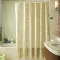 7 sizes PEVA eco-friendly waterproof shower curtain customized thicken bath curtain with free plastic hooks HZD006