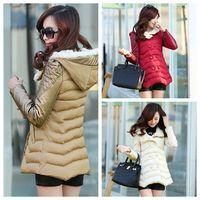 2014 Winter Parkas Coat Women Slim Fashion Long Design 4sizes
