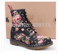 High Quality Dr.1460 8 Black Rose Genuine leather martin boots vintage martin shoes women famous martens brand designer discount