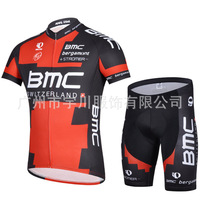 New summer short-sleeved jersey suits cycling equipment cycling shirt 14BMC black and red suit