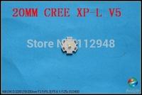 100pcs/Lot DIY 20mm CREE XP-L V5 LED Emitter/Bulb 1350 Lumen for C8,C2+Free Shipping
