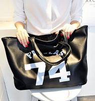 Vintage fashion handbags 2014 Picture Pack new number printing women bucket bag shoulder bags handbag England simple handbags