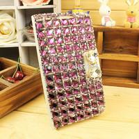 Luxury Handmad Super Bilng Crystal Rhinestone Diamond Flip Case Back Cover For iPhone 4 4S 5 5S 6 6 Plus Free Shipping